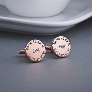 coordinates cufflinks travel themed wedding destination wedding