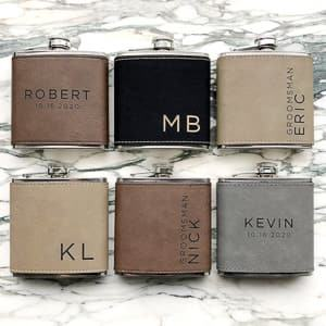 personalized flask groomsmen gifts wedding gifts travel themed wedding destination wedding