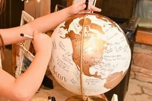 wedding globe guest book alternative travel themed wedding destination wedding