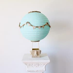 hot air balloon decoration centerpiece themed wedding destination wedding