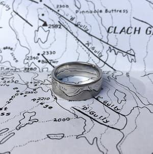 interlocking mountain ring travel themed wedding destination wedding