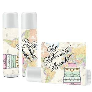 lip balm wedding favor travel themed wedding destination wedding