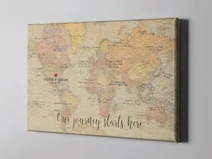 map canvas guest book alternative travel themed wedding destination wedding