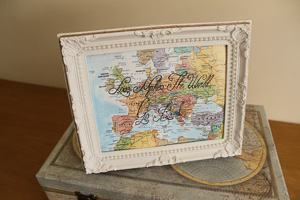 custom travel quote map sign travel themed wedding destination wedding