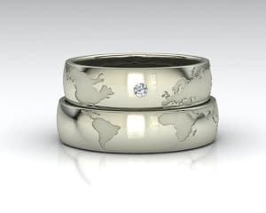 travel themed wedding ring set map ring travel themed wedding destination wedding