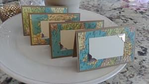 map table place card holders travel themed wedding destination wedding