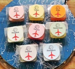 mini travel soaps travel themed wedding destination wedding