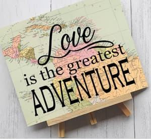 travel quote signs themed wedding destination wedding