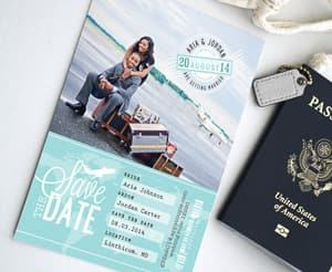 travel themed Save the Date cards travel themed wedding destination wedding
