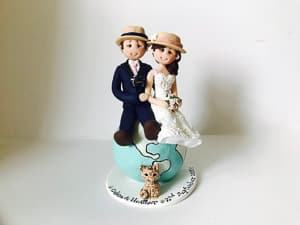 custom travel themed wedding cake topper travel themed wedding destination wedding