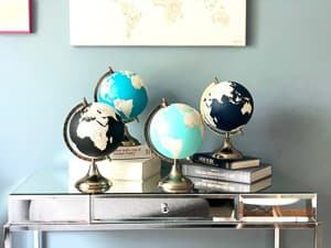 decorative globes themed wedding destination wedding