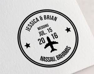 customized wedding stamp travel themed wedding destination wedding