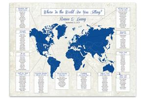 world map seating chart travel themed wedding destination wedding