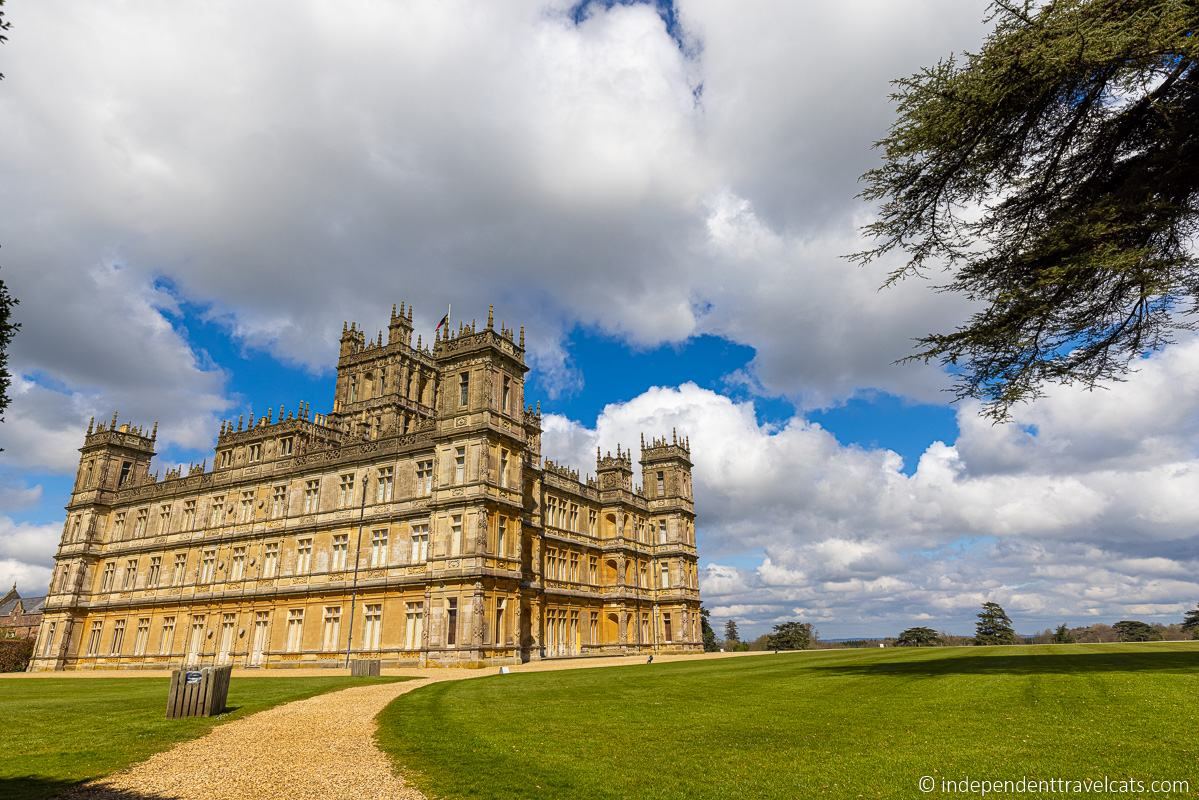 visiting Highclere Castle Downton Abbey home