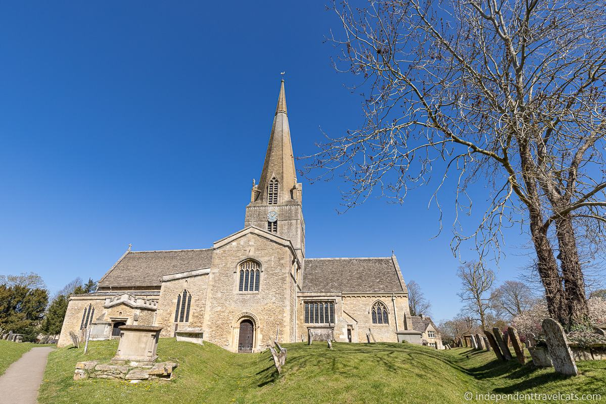 St. Michael's and All Angels church in Bampton St. Mary's church Downton Abbey