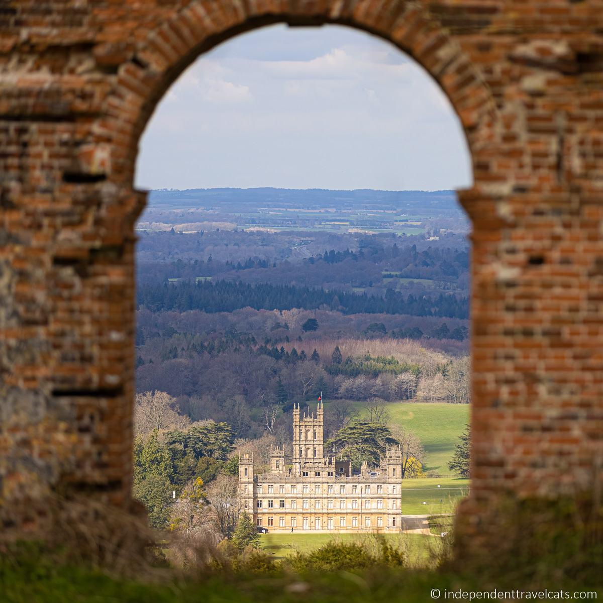 Highclere Castle distant view Downton Abbey Heaven's Gate