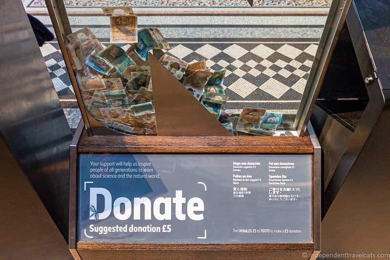 museum donation box museum funding museum costs museum donations from visitors free museums