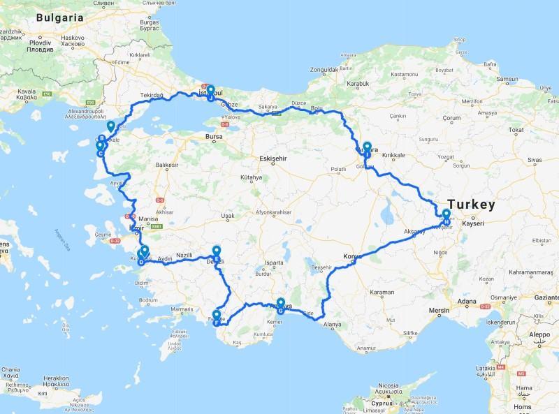 14 Day Turkey Itinerary 2 weeks in Turkey