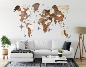 3D wooden map art travel themed home decor handmade travel home decorations furnishings