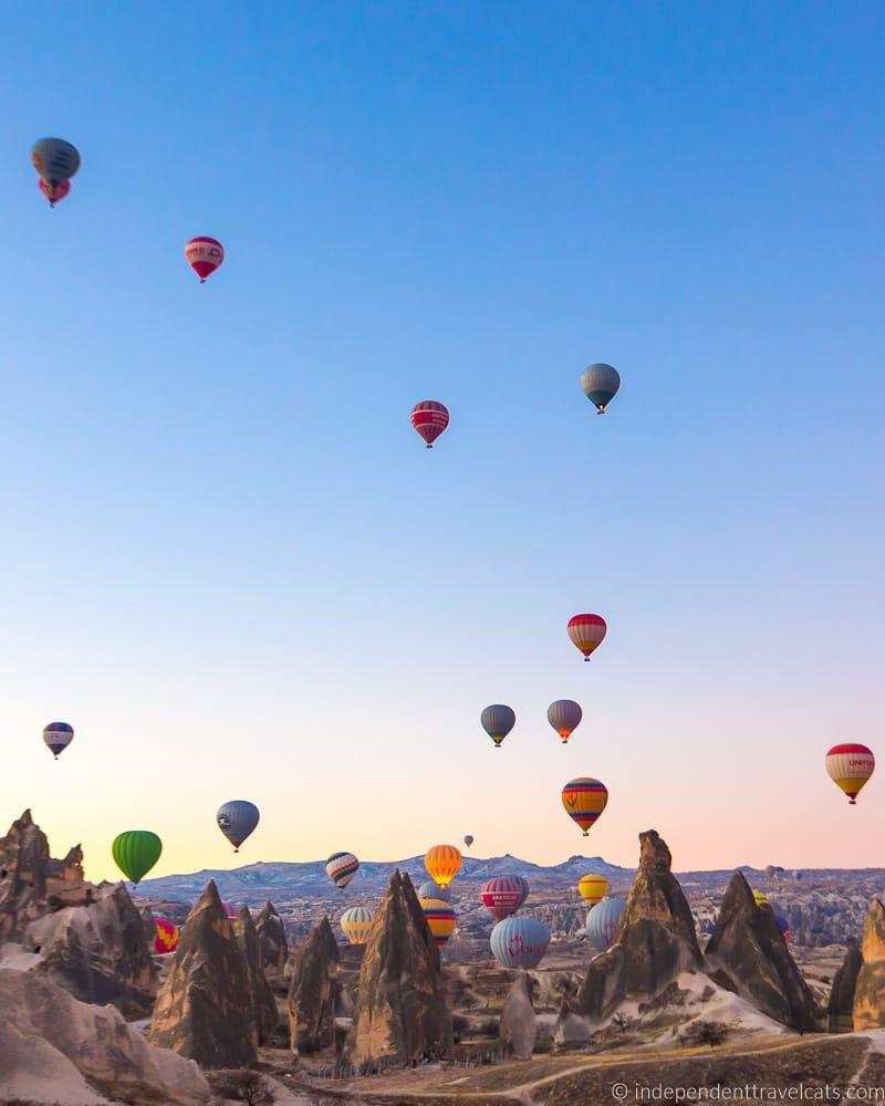 Cappadocia balloons 2 weeks in Turkey itinerary