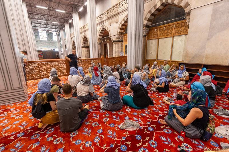 Blue Mosque interior 2 weeks in Turkey itinerary