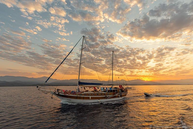 gulet near Fethiye Turkey 2 weeks in Turkey itinerary