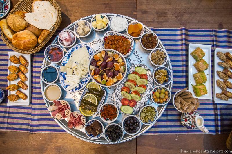 Turkish breakfast 2 weeks in Turkey itinerary