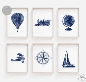 adventure nursery wall art travel themed home decor handmade travel home decorations furnishings