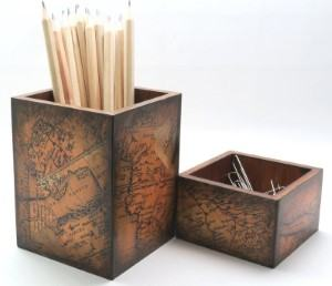 map pencil pen holder desk holder travel themed home decor handmade travel home decorations furnishings