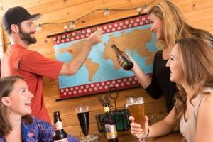 beer cap map travel themed home decor handmade travel home decorations furnishings