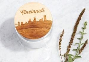 wood city skyline jar kitchen travel themed home decor handmade travel home decorations furnishings