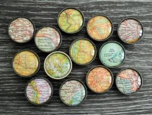 map cabinet door knobs drawer pulls travel themed home decor handmade travel home decorations furnishings
