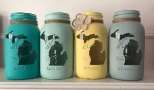 kitchen country decal painted mason jars travel themed home decor handmade travel home decorations furnishings