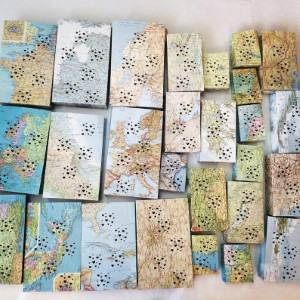 map luminary bags luminaria candle bag travel themed home decor handmade travel home decorations furnishings