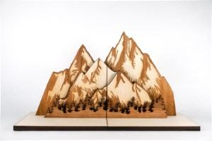 wood mountain bookends book shelf travel themed home decor handmade travel home decorations furnishings