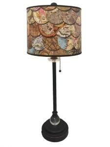 map lamp shade travel themed home decor handmade travel home decorations furnishings