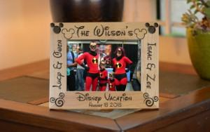 personalized vacation photo frame Disney travel themed home decor handmade travel home decorations furnishings