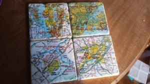 personalized map stone coasters travel themed home decor handmade travel home decorations furnishings