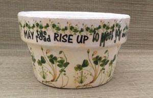 Ireland shamrock flower pot travel themed home decor handmade travel home decorations furnishings