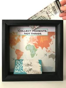 travel ticket shadow box travel themed home decor handmade travel home decorations furnishings