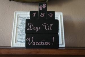 holiday vacation countdown blocks travel themed home decor handmade travel home decorations furnishings