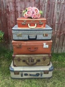 vintage suitcases travel themed home decor handmade travel home decorations furnishings