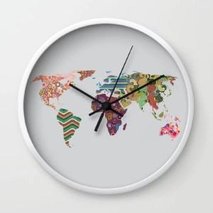 modern world map wall clock travel themed home decor handmade travel home decorations furnishings