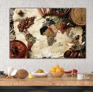 canvas spice map kitchen travel themed home decor handmade travel home decorations furnishings