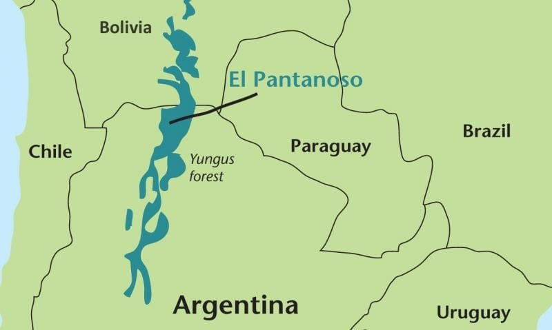 El Pantanoso Reserve map Argentina World Land Trust Fundación Biodiversidad-Argentina