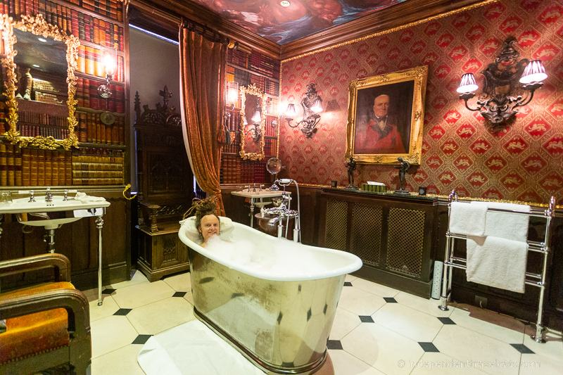 taking a bath while traveling travel tips for bath lovers bathtub The Witchery Edinburgh