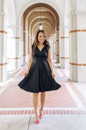 Karina dress made in USA travel dress