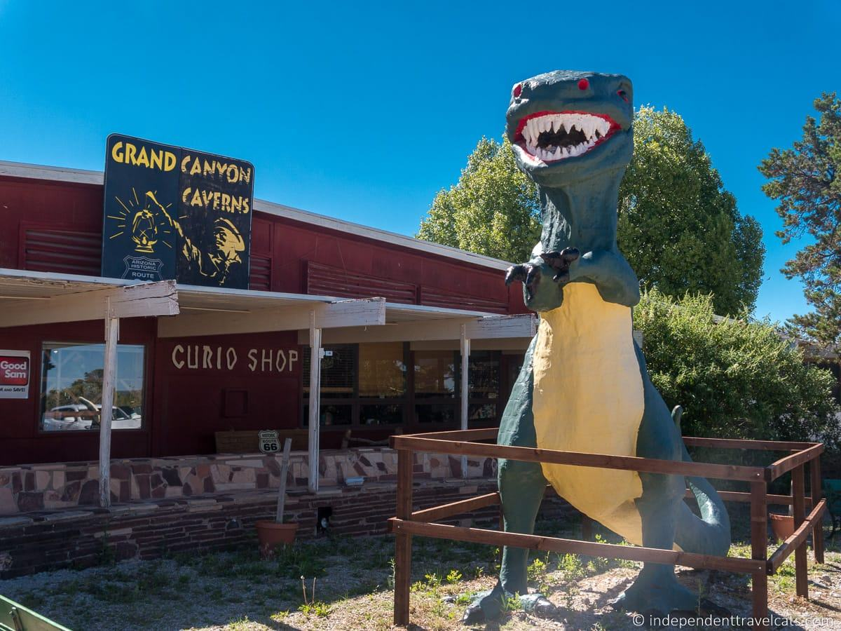 Grand Canyon Caverns motel in Peach Springs Arizona Route 66 motels accommodation