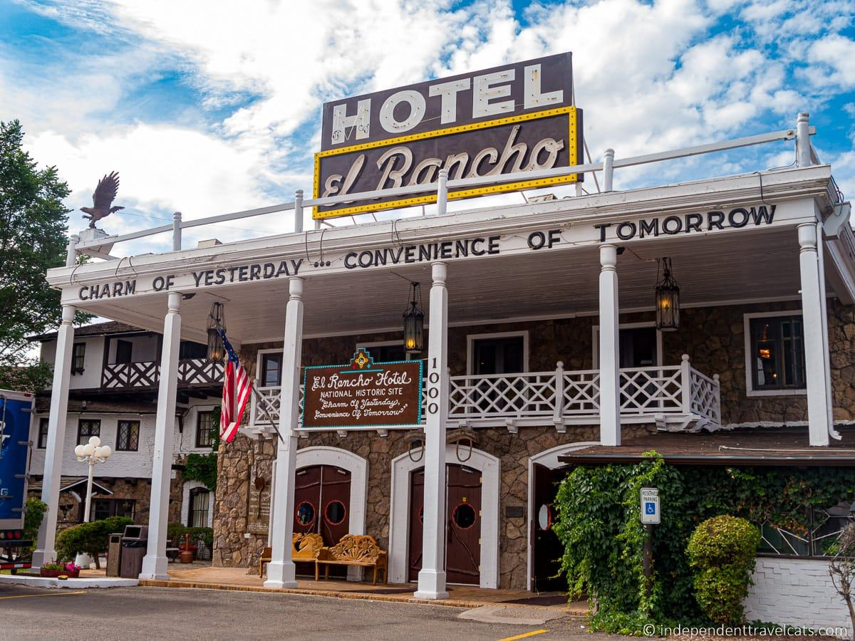 El Rancho Hotel Gallup New Mexico Route 66 motels historic hotels on Route 66 route