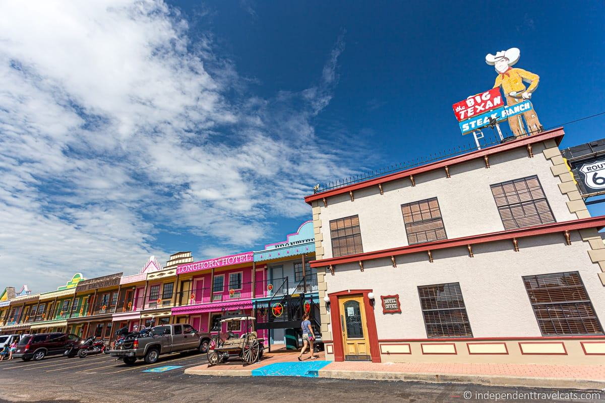 Big Texan Motel in Amarillo Texas Route 66 motels hotels
